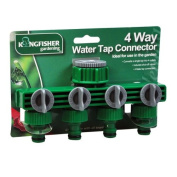 Kingfisher 6084W 4 Way Water Tap Connector - Green