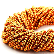 Select Your 33cm Gemstone Rondelle Beads. wholesale price. Exclusively by GemMartUSA - ORANGE PYRITE