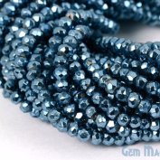 Select Your 33cm Gemstone Rondelle Beads. wholesale price. Exclusively by GemMartUSA - SKY BLUE PYRITE