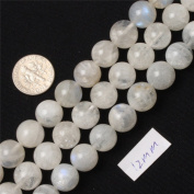 SHG Store 12mm Round Natural Moonstone Beads Strand 38cm Jewellery Making Beads