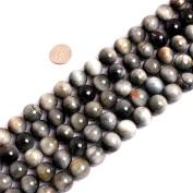 SHG Store Round Natural Hawkeye Gemstone Loose Beads Strand 15 Inch Beads Jewellery Making Beads