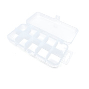 5 PCS Arts Crafts Sewing Organisation Storage Transport Boxes Organisers Clear Beads Tackle Box Case 011ZM