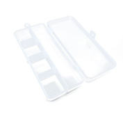 10 PCS Arts Crafts Sewing Organisation Storage Transport Boxes Organisers Clear Beads Tackle Box Case 470ET