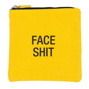 Face Shit Cosmetic Bag Canvas Zip Bag