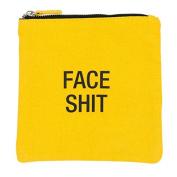 Face Shit Cosmetic Bag Canvas Zip Bag