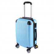 GHP 210D Polyester ABS Shell 360°-Rotating Wheels Light Blue 50cm Trolley Case Luggage