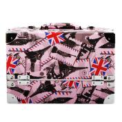 Bellus Cista Cosmetic Bag 3 Column DFF301 - 100%PU, Wood, Artificial Leather Makeup Bag