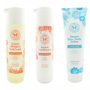 The Honest Company Apricot Kiss - Shampoo + Body Wash (300ml) & Conditioner (300ml) & Unscented Face + Body Lotion