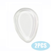 YANQINA 2Pcs/Pack Silicone Makeup Sponge-Gel Foundation Makeup and Puff BB - Droplet Shape,Clear