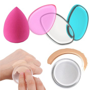 Codream Silicone Makeup Sponges Set with Foam Foundation Sponge Washable No Soak up No Waste on Liquid Gel Cream Powder Foundation Set of 5 Units