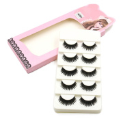 Raylans 5 Pairs Long Cross Thick Makeup False Eyelashes Eye Lashes