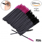 200 PCS Disposable Eyelash Eye Lash Makeup Brush Mascara Wands Applicator Brush Makeup Kits