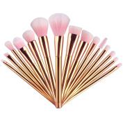 UNIMEIX 15pcs Makeup Brush Set Synthetic Kabuki Comestics Foundation Blending Blush Eyeliner Face Powder Brush Comestic Tool