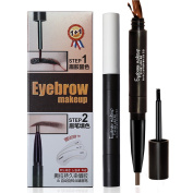 Dual-use Eye Brow Definer - Precision Eyebrow Liner and Tinted Eyebrow Colour Gel - Peel off - with 3 Eyebrow Stencils