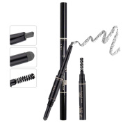 TC Joy 3 in 1 Automatic Eyebrow Pencil with Eyebrow Brush and Powder Natural Long-lasting Waterproof Grey-#4