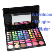 only you Professional 78 Colours Eyeshadow Combination Pallet Eye Shadow Palette Cosmetic Makeup Kit Set with Blush, Highlighters and Liner Shades