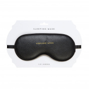 Aeroplane Mode Black 19cm x 8.9cm Leatherette Sleep Mask