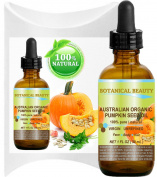 ORGANIC PUMPKIN SEED OIL Australian. 100% Pure / Natural / Undiluted / Unrefined / Virgin Cold Pressed Carrier oil. 1 Fl.oz.- 30 ml. For Skin, Hair, Lip and Nail Care.