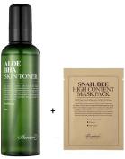Benton Aloe BHA Skin Toner, 200ml with a Sheetmask