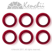 KENCHII KEFIP1 Extra Soft Premium Quality Finger Ring Inserts Red Pack of 6