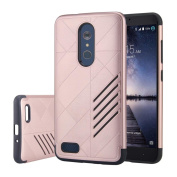 For ZTE Zmax Pro Z981,Sunfei Hybrid ShockProof Hard Protective Case Cover