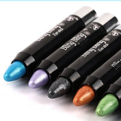Newest trent 6Pcs Eyeliner Eye shadow Pencil Lying Silkworm Big Smokey Eyes Shimmer Automatically Rotate Makeup Glitter Highlighted Eye Liner Pen