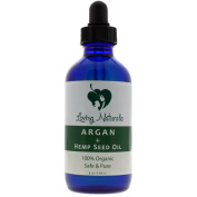 Loving Naturals 100% Organic Argan + Hemp Seed Oil (120ml) for Face, Hair, Skin and Nails