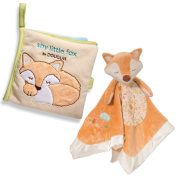 Baby Gift Bundle of 2 - Fox Snuggler and Shy Little Fox Soft Activity Book