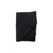 Black Receiving Blanket 100% Cotton Interlock 80cm x 100cm