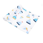 CuteOn Soft Cotton Hospital Receiving Multifunction Blankets for Unisex Baby 72 Sailboat