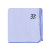 KicKee Pants Solid Swaddling Blanket, Lilac With forget Me Not
