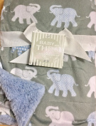 Baby Thro Brandy Bazaar Elephants Printed Micromink Decorative Baby Throw 80cm X 100cm