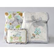 Owl and Nesting Birdies Blanket Gift Set by Nurture