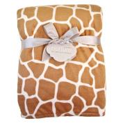 Giraffe Printed Plush Blanket by Nurture