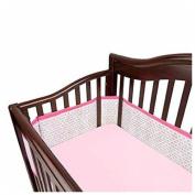 Breathable Baby Mesh Crib Liner - Geo Girls New
