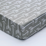 Grey Arrow Fitted Crib Sheet