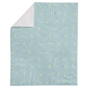 Sheep and Moon Stars Printed Minky Blanket by Oliver Gal