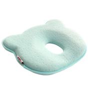 Bayby Pillow Protector, Hmane Bear Shape Baby Head Neck Support Newborn Head-shaping Memory Foam 3D Pillow - Blue
