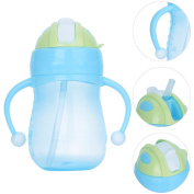 270ml Kids Sippy Straw Cup Soft Mouth Flip No-Spill Sip Cups with Flex Straw Easy Grip