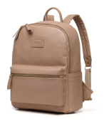 LCY Fashion PU Leather Multi-function Backpack Baby Nappy Bag With Changing Pad Khaki