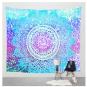 WCHUANG Wall Decor Floral Tapestry Art Home Decoration Window Curtain Yoga Mat, Bedspread, Beach Towel Blanket