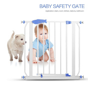 Ankola Step Walk Thruogh Safety Gate, Metal Multifunction Children Security Product Baby Safety Door Gate Fits Openings 80cm to 90cm Wide, 80cm Tall , Shipping from Local America