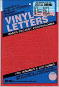Gothic/Red Vinyl Letters and Numbers - 0.75