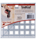 TrueCut TC65SQ | Ruler Track Patchwork Ruler | 6.5 x 6.5 ins