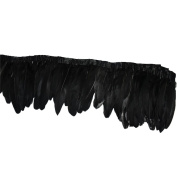 Everyshine 6 metres/lot DIY Dyed Goose Feather Trim Fringe 15cm - 20cm width