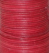 Natural Dye Red Round Leather Cord 1.5mm x 50m BEST VALUE!