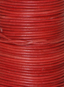 Natural Dye Cyclaman Round Leather Cord 2mm x 50m BEST VALUE!