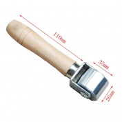 AMPSEVEN Leathercraft Roller Tool for Glue Edges Crease Leather 25cm 6.1cm 9.9cm