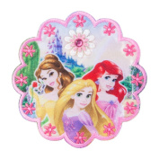 Disney Princess Flower emblem large Disney Rapunzel flowers L D01Y0379
