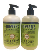Mrs. Meyers Lemon Verbana Hand Lotion (350ml) and Hand Soap (370ml) bundle